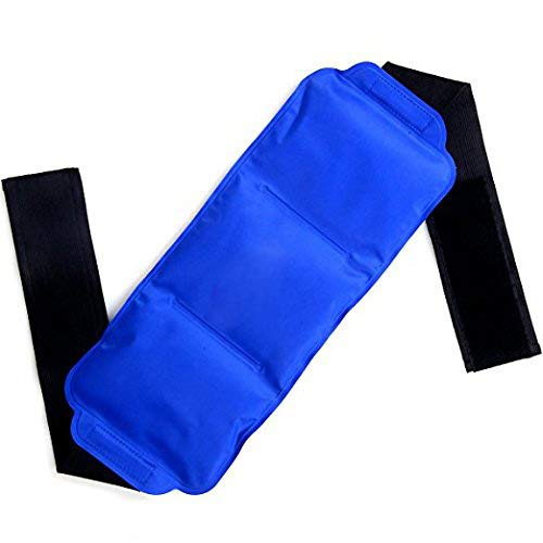 BIG CLEARANCE SALE! Ice Pack-Raniaco Reusable & Flexible Gel Cold Pack with Adjustable Velcro Strap, Hot Cold Therapy for Head ,Neck,Shoulder,Back,Waist ,Knee, Ankle Sports Muscle Pain Relief (Blue )