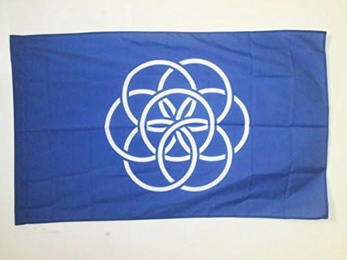 Drapeau Nature Humaine 90 x 150 cm Fourreau pour hampe AZ FLAG Drapeau Humanit/é 150x90cm