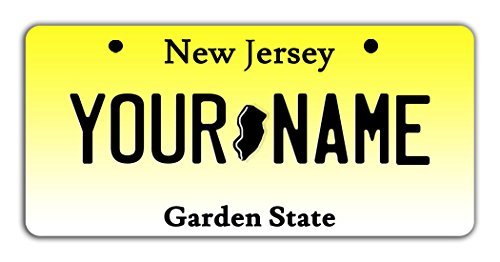 BleuReign(TM) Personalized Custom Name New Jersey State Bicycle Bike Moped Golf Cart 3