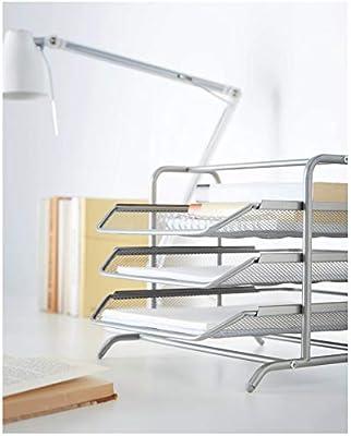 Ikea Bandeja para Cartas, Metal, Gris, 38x29x5 cm: Amazon.es: Hogar
