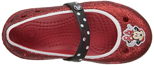 Flat Little Us Jelly Rosso Crocs Kid Ps Glitter 7 toddler Keeley M Toddler Minnie Hx700qwpX