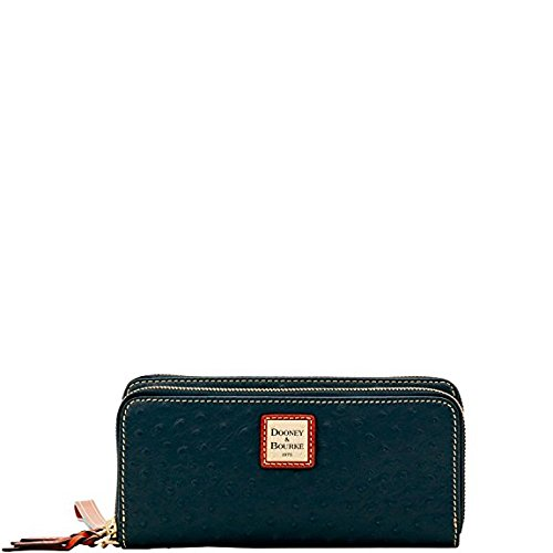 Dooney & Bourke Ostrich Double Zip Wallet by Dooney & Bourke