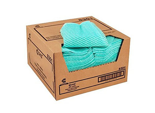 Chix Wet Wipes, 14 X 21, White/Green, 100 Towels/Pack, 9/Carton