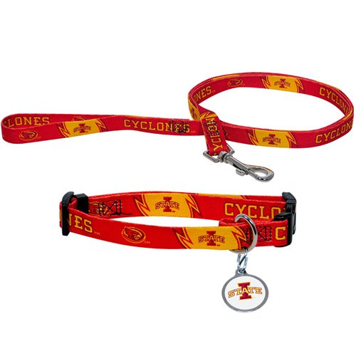 Hunter Manufacturing HUN-4100-41-8500 Iowa State Cyclones NCAA Dog Collar & Leash Set
