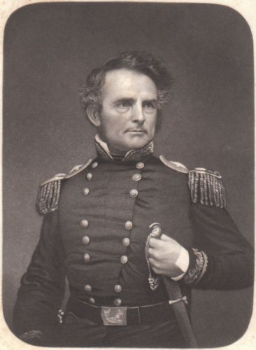 1852 Engraving of General Gideon J. Pillow of Tennessee