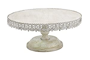 "Deco 79 50482 Metal Cake Stand, 22"" x 10"""