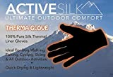 Medium ONLY. 100% Pure Silk Thermal Liner Gloves
