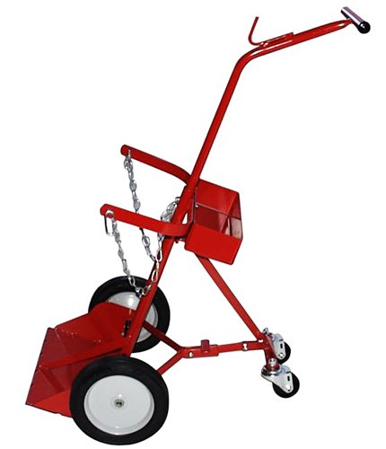 Milwaukee Hand Trucks 40144 2-Tank Cylinder Truck with Retractable ()