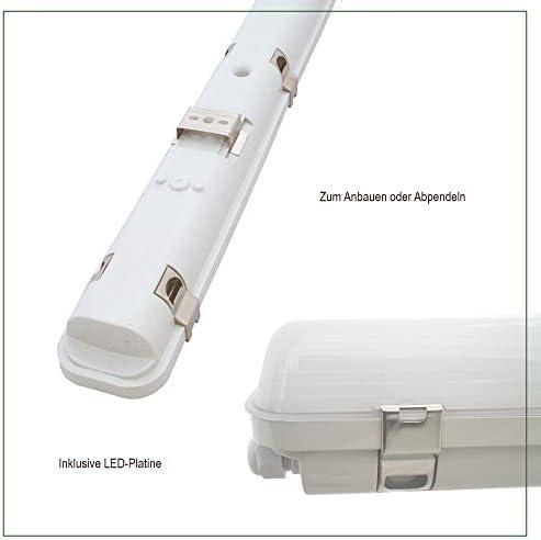 Lampada a LED per ambienti umidi, 48 Watt, COB, 4000 K, 4800 lm, IP65, per ambienti umidi, cantina, officina