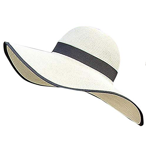 99d03a5f3 Womens' Panama Sun Hat Boater Handwoven Straw Hat for Summer