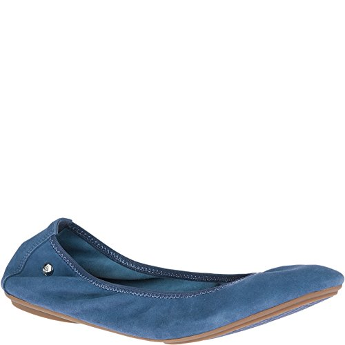 Vintage Hush Puppies (Hush Puppies Women's Chaste Ballet Flat, Vintage Indigo, 10 W US)