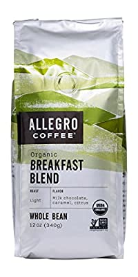 Allegro Coffee Organic Breakfast Blend Whole Bean Coffee, 12 oz from Allegro Coffee