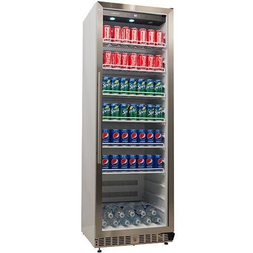 EdgeStar VBR640 14 Cu. Ft. Built-In Commercial Beverage Merchandiser - White and Stainless Steel by EdgeStar