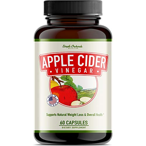 Apple Cider Vinegar Pills - Appetite Suppressant Capsules for All Natural Weight Loss - Powerful 1300 MG Serving Reduces Sweet Cravings, Stabilizes Blood Sugar, Boosts Energy Levels and Burns Fat