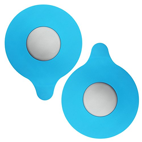 Bathroom Sinks Tubs (MIBOW 2 Pack Bathtub Drain Cover, Tub Stopper Drain Plug for Kitchen Sink,Bathroom Drains and Laundry,Universal Size,Silicone, Blue)