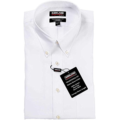 Kirkland Signature Men's Traditional Fit 100% Cotton Non Iron Button Down...