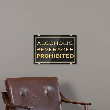 Alcoholic Beverages Prohibited 5-Pack CGSignLab 18x12 Classic Gold Premium Acrylic Sign