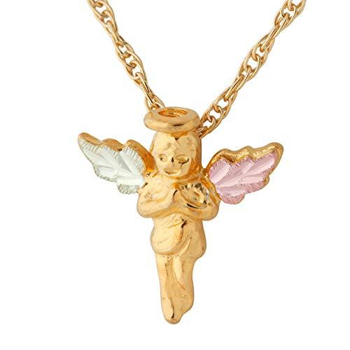 Black Hills Gold 10k Angel Pendant - Angel Hills Pendant Gold Black