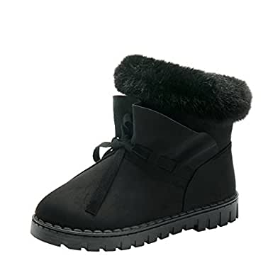 Amazon.com | Slduv7 Warm Fluffy Fur Snow Boots Womens Cute