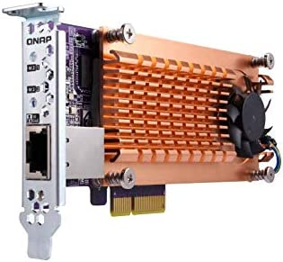 QNAP QM2-2S-220A Dual M.2 22110/2280 SATA SSD Expansion Card (PCIe Gen2 X2), Low-Profile Bracket Pre-Loaded, Low-Profile Flat and Full-Height are ...
