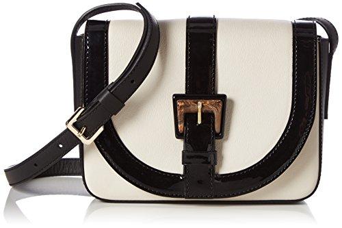 Pollini Bag, Borse a Tracolla Donna Bianco (Avory + Black)