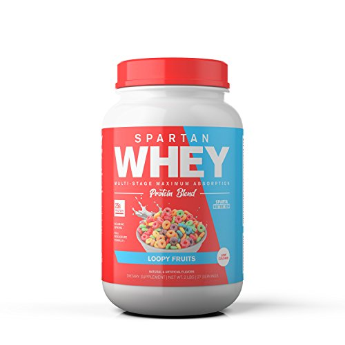 - Spartan Whey: Best Rated Protein Powder Blend, Best Tasting Whey Protein Isolate, Concentrate and Micellar Casein Blend with AstraGin for Amino Acid Bioavailability, Loopy Fruits, 2 pounds