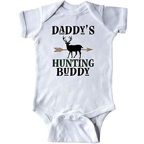 - inktastic - Daddy Hunting Buddy Bow Hunter Infant Creeper Newborn White 31de2