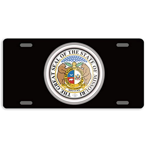 - Eprocase License Plate Cover States of USA Seals Missouri Automotive License Plate Novelty Car Tag Metal Decorative Tags Auto Sign Front License Plates 4 Holes 12 x 6 Inches