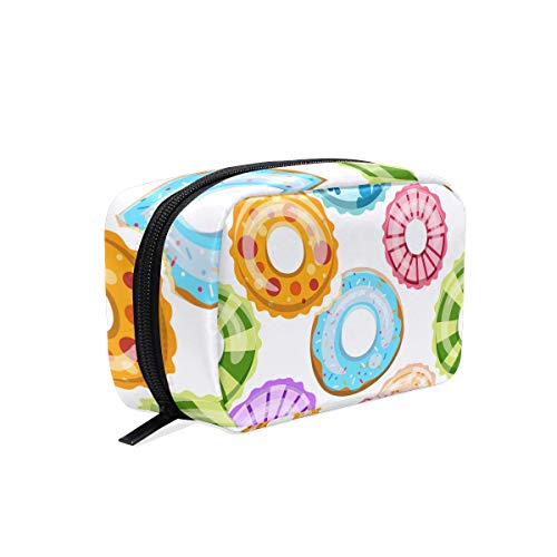 Makeup Bag Portable Travel Cosmetic Bags Colorful Swim Rings Storage Bag for Women Skincare Makeup Train Case by SUABO