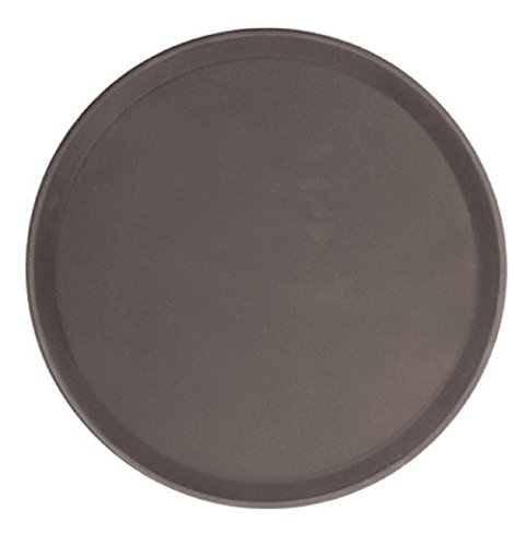 - Thunder Group PLFT1400BR, 14-Inch Brown Round Fiberglass Tray, Plastic Serving Bar Tray