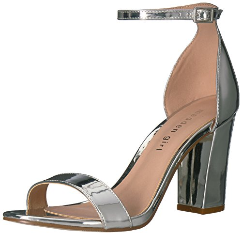 Madden Girl Women Beella Dress Sandal Silver/Metallic