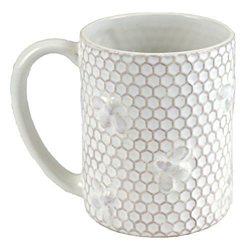 Bee Honeycomb Embossed Ceramic Coffee Mug Bee Mug