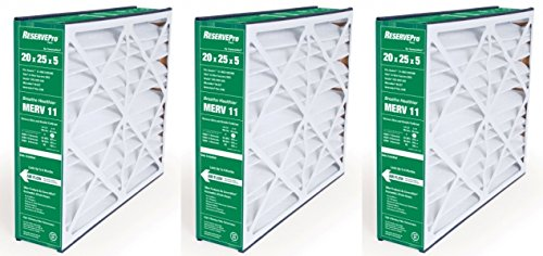 GeneralAire # 4501 ReservePro 20x25x5 furnace filter, Actual Size:19 5/8