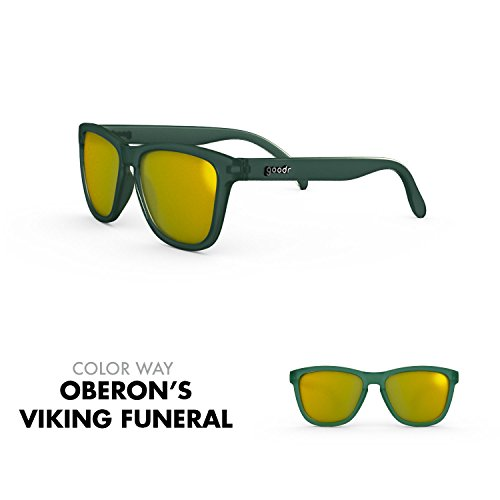 goodr RUNNING SUNGLASSES - No Slip, No Bounce, UV Polarized (Oberon's Viking Funeral, - For Running Glasses