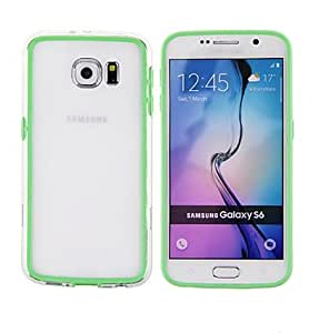LHY Compatible Solid Color Bumper Frame for Samsung Galaxy S6 G9200 (Assorted Colors) , Green