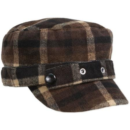 magid-plaid-wool-cadet-hat-brown