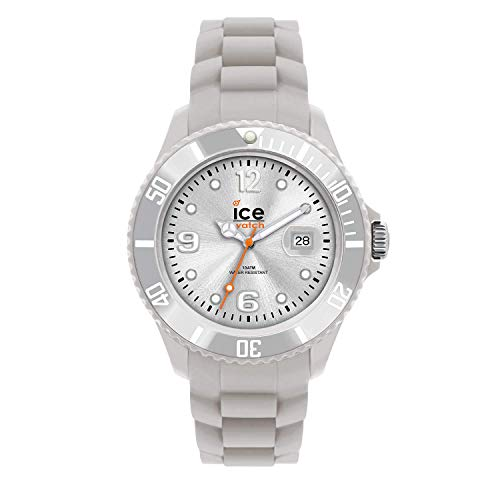 Ice-Watch Unisex SI.SR.U.S.09 Sili Collection Silver Plastic and Silicone Watch