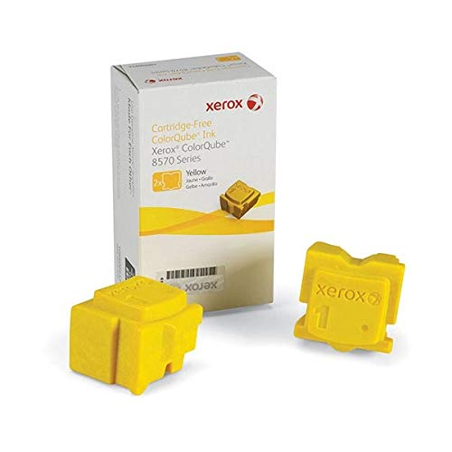 (Genuine Xerox ColorQube 108R00928 / 108R928 Yellow Ink Sticks for Phaser 8570 (2 pcs/ Box))