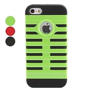 comprar Diseño del estuche rígido desmontable de micrófono para el iphone 5/5s (colores surtidos) , Verde
