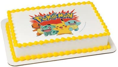POKEMON Edible ICING Image CAKE Topper Decoration FREE SHIPPING G0