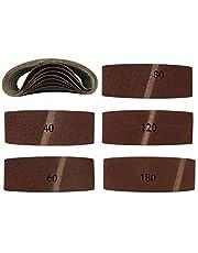 20 stuks gemengde schuurbanden voor bandschuurmachines 75 x 457 mm, korrel elk 4 x 40/60/80/120/180