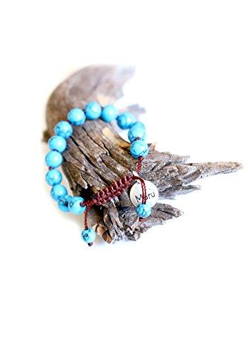 Premium Turquoise Blue Mala Beads Bracelet for Women – 8mm Mala Bead Bracelet Women – Women Mala Beads Bracelet