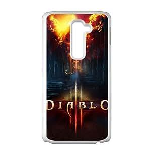 Diablo LG G2 Cell Phone Case White Xqpu