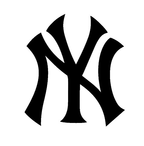 MLB Baseball New York Yankees, White, 6 Inch, Die Cut Vinyl Decal, For Windows, Cars, Trucks, Toolbox, Laptops, Macbook-virtually Any Hard Smooth ()