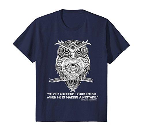 Kids SMART DESIGNZ: The Three-Eyed Owl Prison T-Shirt 4 Navy