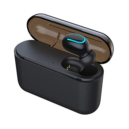 Byakov Wireless Earbud Bluetooth 5.0 Headphone True Wireless Earphone Deep Bass 3D Stereo Sound Headphone Noise Cancelling Headset with Portable Charging Case