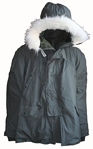 Military Outdoor Clothing Previously Issued U.S. G.I. Olive Drab Men's United States Air Force N-3B Parka XL X-Large (Extreme Parka Weather Cold)