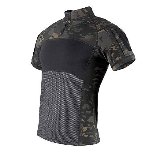The Mercenary Company G4 Short Sleeve Knitted Combat Shirt (Multicam Black, Large) (Emerson Shirt Black)