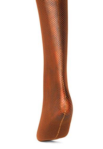 Joanna-Trojer-Golden-Lurex-Tread-Seamed-Bronze-Fishnet-Tights-34-LargeX-Large