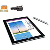 Microsoft Surface 3 Bundle - 4 Items: 4 GB 64GB Wi-Fi Only Quard-Core 10.8-Inch Tablet Windows 10 Pro, Original Pen, Silicon Power 32GB Elite microSDHC Card and 2-in-1 Travel Charger